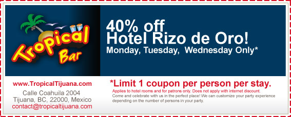Coupon - 40% off Hotel Rizo De Oro